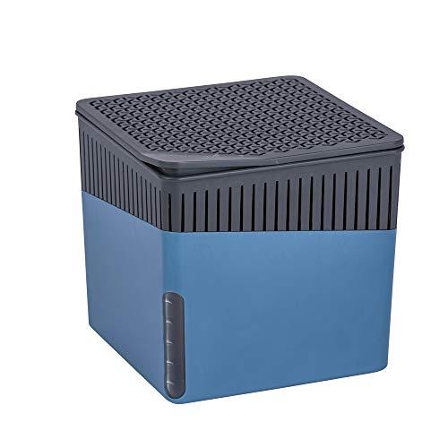 Wenko Raumentfeuchter Cube blau mit 2 x 1000 g Granulat-Nachfüller, Luftentfeuchter