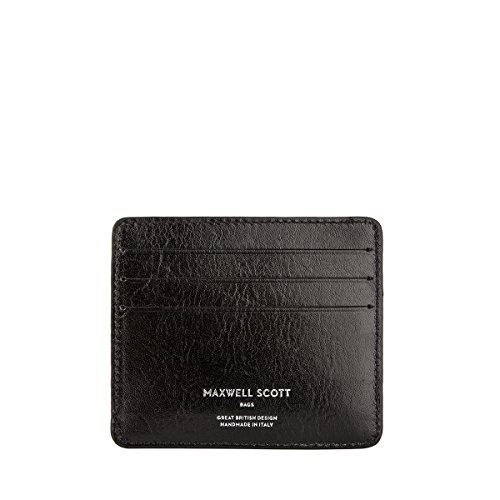 Maxwell Scott Quality Leather Men's Card Holder - Marco Black