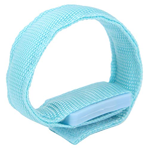 Pulsera ligera, pulsera ligera y luminosa que mejora la visibilidad y la seguridad durante la noche para estar en forma para el entrenamiento muscular para la protección deportiva(blue)