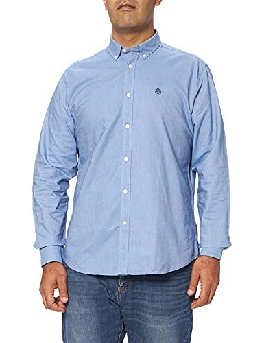 Springfield Camisa Oxford Solid Organic, Azul Medio, L para Hombre
