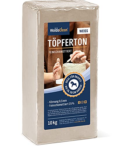 Töpferton Soft Ton lufttrockend Körnung - leicht und angenehm zu verarbeiten für Kinder