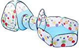 FQCD / Aire Libre de Interior del tnel del Juego y Juego de la Tienda 3 en Tiendas de campaa de Juguetes de 1 Infantil del beb Juegos Infantil Tneles ( Color : Light Brown )