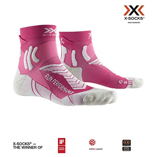 X-SOCKS Run Performance Women Chaussette Femme, Flamingo Pink/Pearl Grey, FR : L (Taille Fabricant : 39-40)