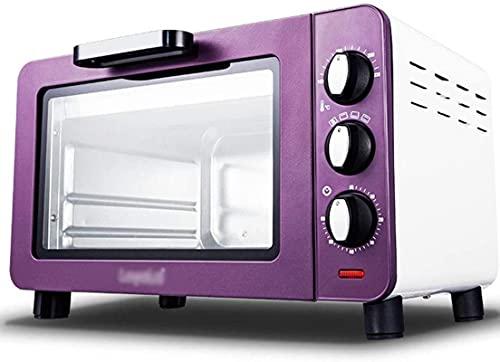 Tostadora eléctrica, horno, multifunción, pizza, 1200W, 15L, acero inoxidable, forro curvo 3D, 4 tubos de calefacción