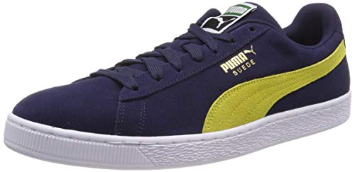 Puma Suede Classic, Scarpe Unisex-Adulto, Blu (Peacoat-Blazing Yellow), 43 EU