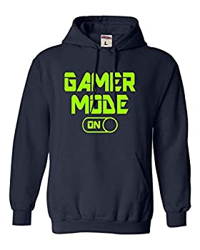 Go All Out XXX-Large Navy Blue Adult Gaming Mode On Funny Gamer Sweatshirt Hoodie