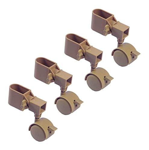 Ruedas giratorias de repuesto para muebles de sofá, silenciosas, plegables, con freno, paquete de 4 x 800 libras (tamaño: B)