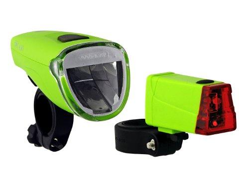 Büchel Batterielampenset, Frontlampe Triolux 40 Lux, Rücklicht Mini LED, grün, 51125476
