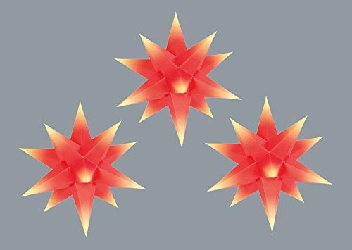 Knebel Marienberger Adventssterne 3-Set rot/gelb