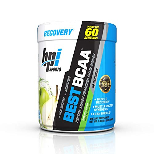 BPI Sports Best Bcaa - BCAA Powder - branched Chain Amino Acids - Muscle Recovery - Muscle Protein Synthesis - Lean Muscle - Improved Performance – Hydration – Green Fusion - 60 Servings - 1.32 Lb