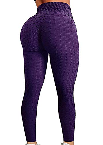 SEASUM Women's High Waist Yoga Pants Tummy Control Slimming Booty Leggings Workout Running Butt Lift Tights M