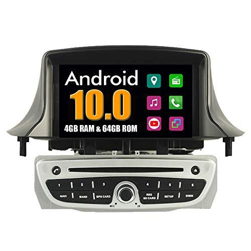 KLL Sistema Android Coche Reproductor de DVD para Renault Megane III 3 Fluence 2009 2010 2011 con Radio Navegacioacute;n GPS Esteacute;REO Multimedia Bluetooth USB MirrorLink