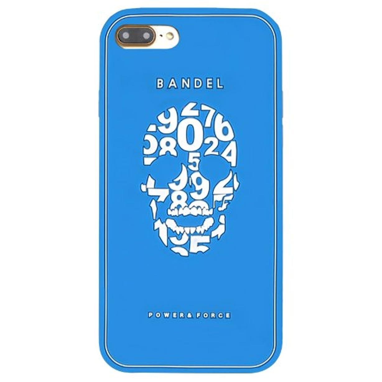 小道摘む南バンデル(BANDEL) iPhone7Plusケース スカル ブルー [iPhone7Plus用シリコンケース]