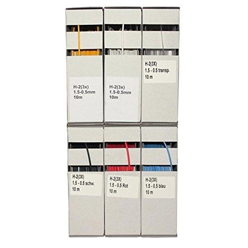 Schrumpfschlauch 3:1/1,5-0,5mm, 10m, schwarz