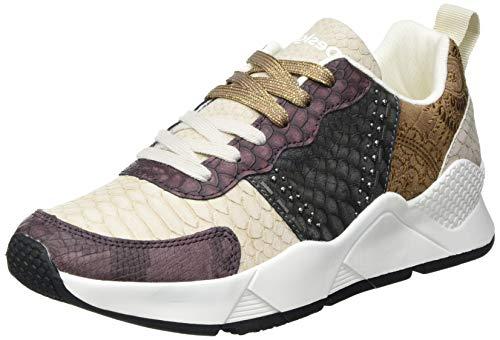 Desigual Low, Sneakers Woman Donna, Marrone Pietra, 38 EU