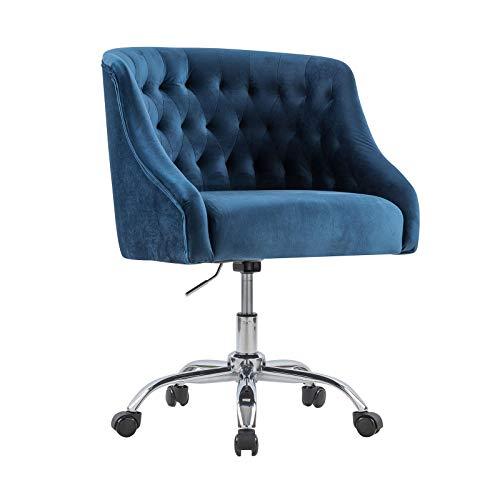 Drehstuhl Samt Computerstuhl Drehstuhl drehbar, stufenlos höhenverstellbar,Polsterfarbe perfekt für Mädchen und Office Lady