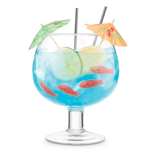 Final Touch Cocktail Fishbowl Glass - Holds up to 1.3 L (44 oz)