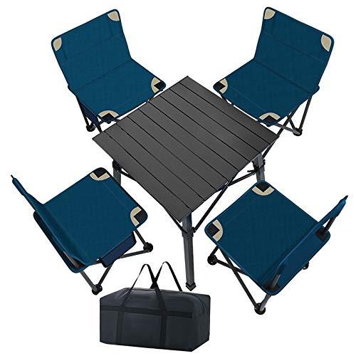 Mesa Catering Plegable, mesas y sillas Camping Mesa Plegable Camping con sillas...