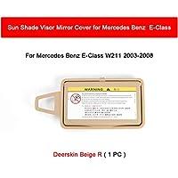 MMBO. Sun Shade Visor Interior Makeupミラー化粧品ミラーカバーフィットメルセデスベンツEクラスW211 03-08 2118100310 (Color : Deerskin R)