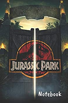 """Jurassic Park Notebook  Blank lined notebook Journal Or a Diary To Write Down Ideas Follow up projects for women men & children have Durable 6"""" x 9"""" inches 120 pages  lined notebook"""