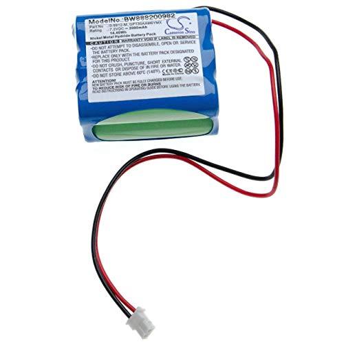 vhbw Batería Compatible con Visonic PowerMax 0-9913-W Panel de Control, Sistema de Alarma (2000mAh, 7.2V, NiMH)