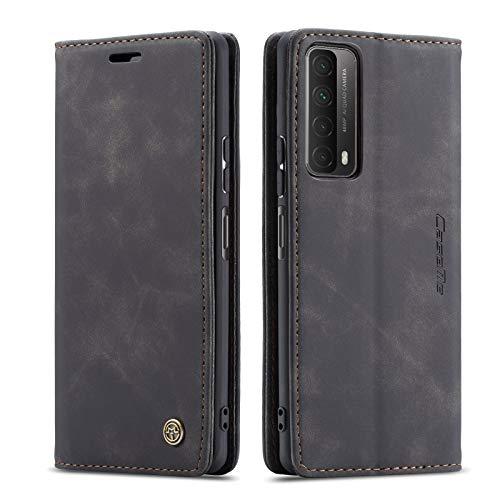 YFXP Kompatibel mit Huawei Y7A/P smart 2021 Lederhülle Hülle 2 Kartenschlitze mit magnetischem Verschluss Brieftasch-Stil Kartenfach Magnet Hülle