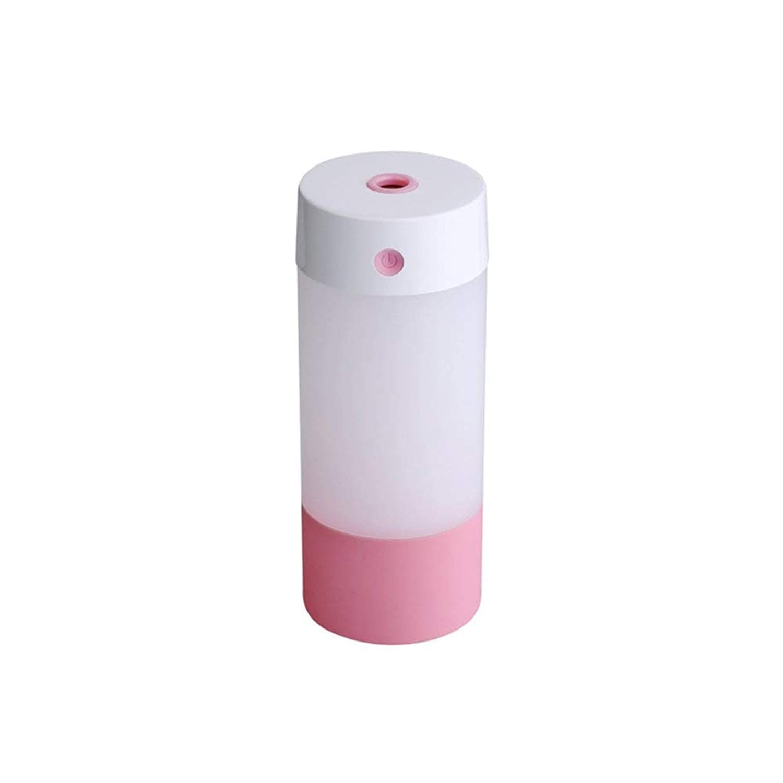 ミニ加湿器スプレーledライト250ミリリットルパーソナルusbクールミスト加湿器空気清浄機用旅行車ホームオフィス,Pink