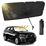 Truck SUV Car Windshield Sun Shade, Foldable Car Sunshade Umbrella for Car Front Window/Auto Windshield Covers Keeps Cars Interior Cool, Large Size 54'' x 31'', Fit Most Vehicle