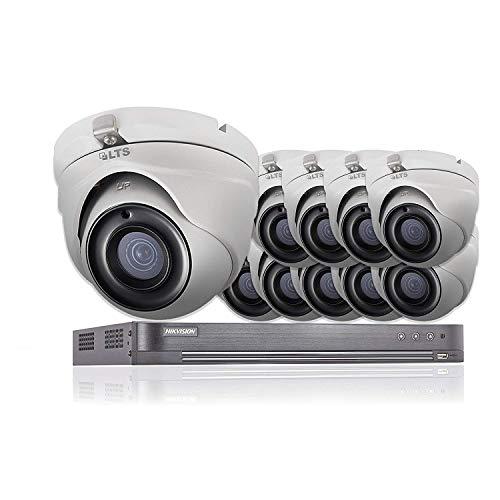 16 CH Hikvision 5 MP CCTV Sistema de Seguridad 10 x LTS Cámaras CMHT1352N 4K Resolución DS-7216HUHI/K2 DVR + 2 TB HDD (Full Kit + 10 x Cámaras + 2 TB)
