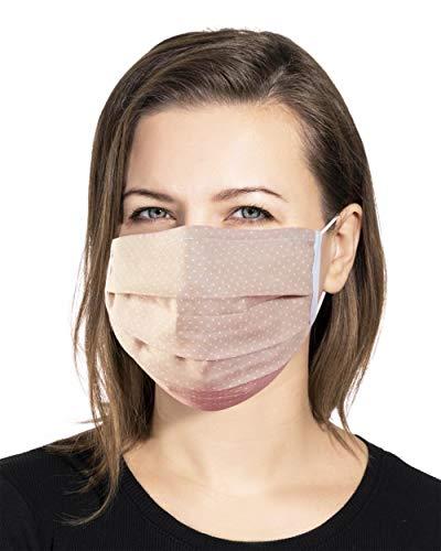 Swaddyl Mundmaske 3erPack I Behelfsmaske I Stoff Maske I Baumwolle (Beige)
