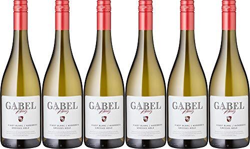 6x Pinot Blanc Auxerrois trocken Großes Holz 2018 - Weingut Gabel, Pfalz - Weißwein