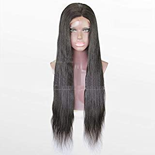 Full Lace Wig Silk Top Indian Remy Hair 24inch Natural Color Silky Straight