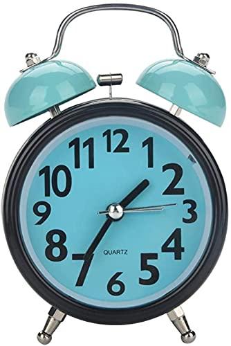 DFGBXCAW Despertador de Carnaval del día de San Valentín, Despertador mecánico, Campana Doble Reloj Despertador mecánico Ultra silencioso Movimiento de Cuarzo Mesa de Escritorio Noche WA