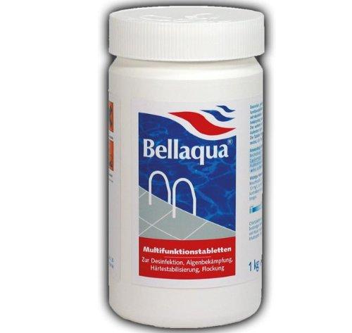 Elecsa 755 Bellaqua Tablettes de chlore désinfectantes multifonctions pour piscine 200 g Poids total 1 kg