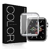 G-Color Protector Pantalla/Funda para Apple Watch 44mm Series 6 5 4 SE, TPU, Funda Carcasa para iWatch 44mm Serie 6/5/4/SE Hermès, Nike+ Edition