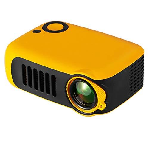 JCSW Proyector, Proyector WiFi, Mini Proyector Portátil Soporte Full HD 1080P, 1000 Lúmenes Proyectores Home Cinema, Compatible con TV Stick, PS4, USB, HDMI, SD, AV, Blanco. Q002JY (Color : Yellow)