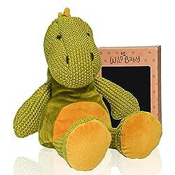 1. WILD BABY Crochet Dinosaur Stuffed Animal Toy