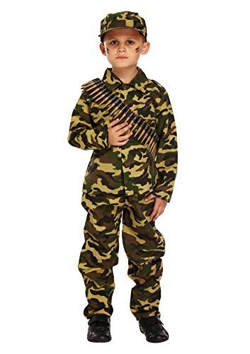 Child Army Military Camouflage Fancy Dress Costume (7-9 years)
