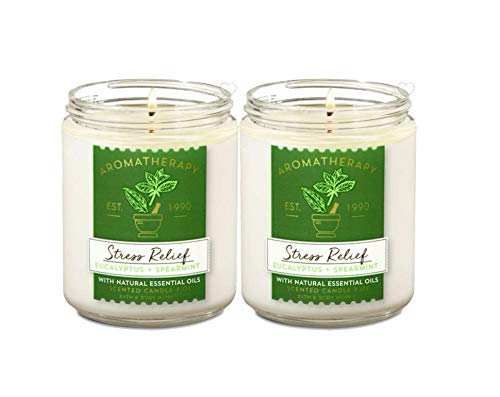 Bath & Body Works Stress Relief Aromatherapy Scented Candles  ...