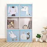N / A Caja de Almacenamiento Plegable de Tela de Dibujos Animados para niños Juguetes Organizador Ropa Ropa Interior Calcetines contenedores de Almacenamiento Cajas de Cubo 33x33x33cm