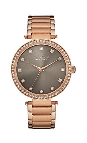 Caravelle New York Damen-Armbanduhr T-BAR Analog Quarz Edelstahl beschichtet 44L211