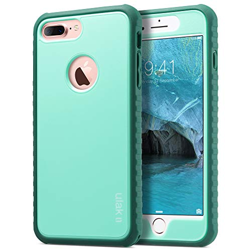 ULAK iPhone 7 Plus Case, Slim Hybrid Hard PC Back Cover with Shock Absorption TPU Bumper Front Cover, Premium Anti-Slip Protective Phone Case for iPhone 7 Plus 5.5 inch, Mint