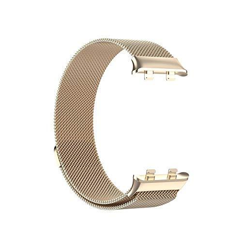 YGGFA Para reloj OPPO de 46 mm y 41 mm, correa de bucle milanés, cable de carga rápida USB, adaptador de conector de metal, correa de reloj (color de la correa: oro champán, ancho de la correa: 46 mm)