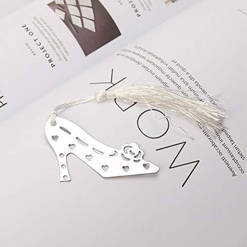 Scarpe artigianali artigianali in metallo con tacco alto Segnalibro forniture per ufficio scuola Segnalibro romantico Regali per San Valentino di nozze