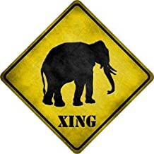 Bargain World Elephant Xing Novelty Metal Crossing Sign (Sticky Notes)