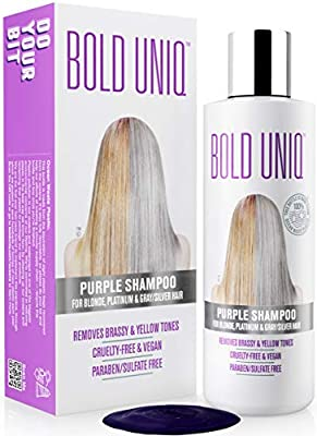 Purple Shampoo for Blonde Hair: Blonde Shampoo Eliminates Brassy Yellow Tones- Lightens Blonde, Platinum, Ash, Silver and Grays- Paraben & Sulfate Free Toner- Revitalize Bleached & Highlighted Hair
