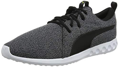 PUMA Carson 2 Knit NM Zapatillas de Running para Hombre,Negro ( Puma Black Puma White Yellow Alert ) , 40 EU