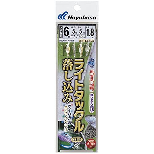 ハヤブサ(Hayabusa) 船極喰わせサビキ ライトタックル 落し込み ケイムラ&ホロフラッシュ4本 SS428 7-8-8