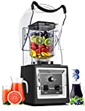 Wantjoin Professional Commercial Blender Soundproof Quiet blender with Removable Cover ,Timer for...