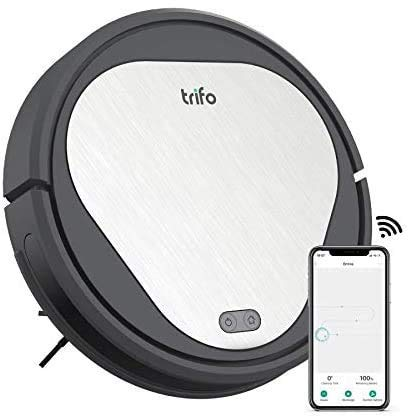 Trifo Emma Essential Robot Vacuum Cleaner Pet Edition, with Pet Hair Extractor, 4000Pa Suction Power, 110-Minute Runtime, Wi-Fi Connectivity, Works with Alexa, Good for Pet Hair, Carpets, Hard Floor